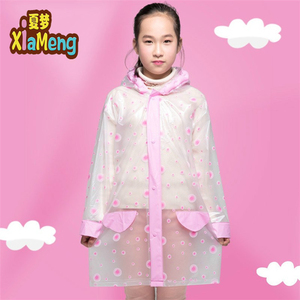 Eco-friendly travel lightweight raincoat pvc fashion transparent children's raincoat