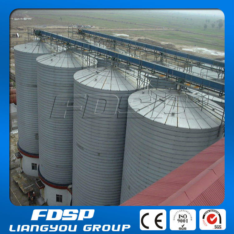 2500t Maize Storage Silo Flat Bottom Silo With Drying Tower
