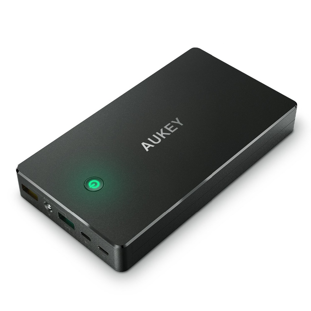 PB-T10 AUKEY 20000mAh Power Bank With Quick Charge 3.0 Fast Charging Dual USB Portable External Battery for Iphine,LG,xiaomi