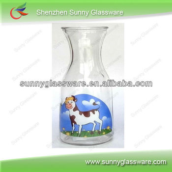 Wholesale Clear Glass Milk Bottles of Various Volume