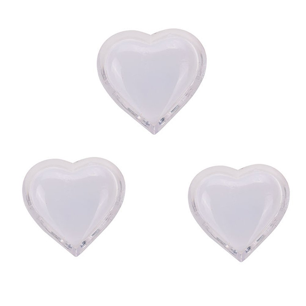 LED Night Light, Heart Colorful Energe-saving Plug in Wall Night light Lamp for Baby Kids Nursery Bedroom Hallway and More, White, Pack of 3