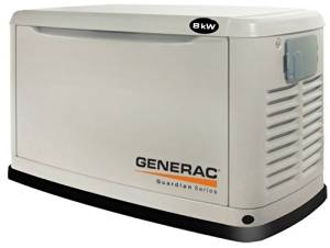 Generac Guardian Series 5882 8,000 Watt Air-Cooled Liquid Propane/Natural Gas Powered Standby Generator Without Transfer Switch (CARB Compliant) (Discontinued by Manufacturer)
