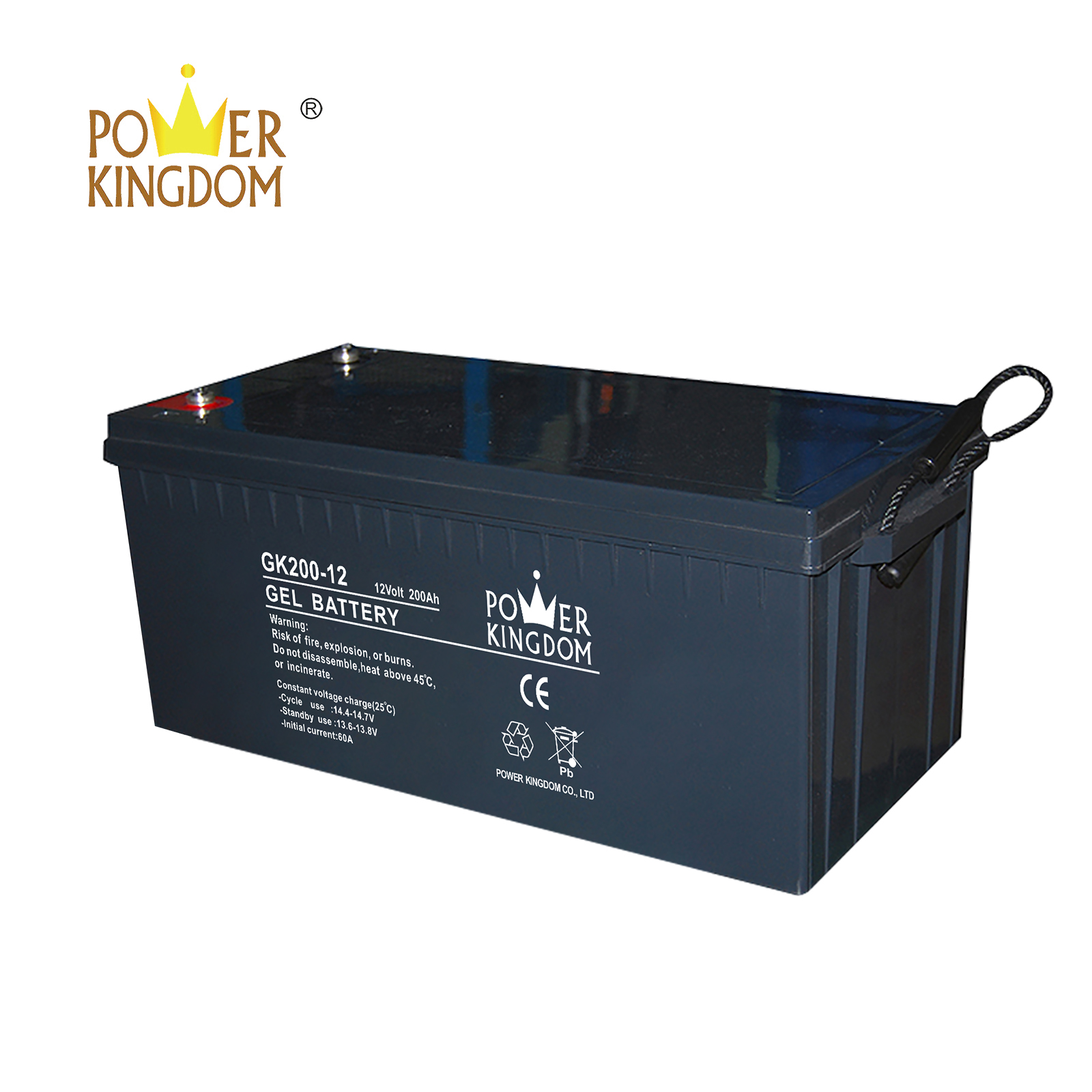 Power Kingdom high consistency rechargeable sealed lead acid battery design wind power system-2