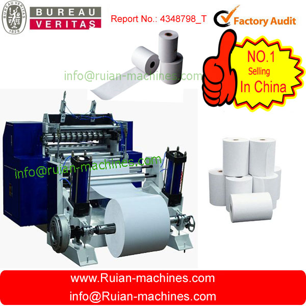 HAS VIDEO Cash Register Paper And Roll Slitting Machine/ATM reel paper slitter and rewinder/Thermal roller cutter price