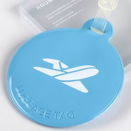 Soft Rubber Bag Tag Pu Leather Luggage Tags Silicone Luggage Tags