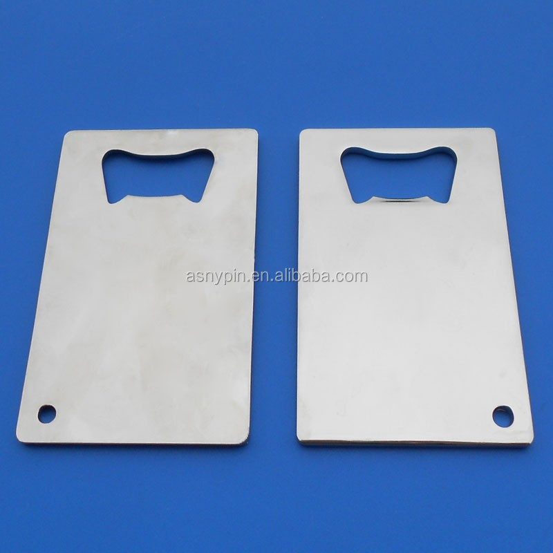 silver credit card blank beer openers for beer company gifts