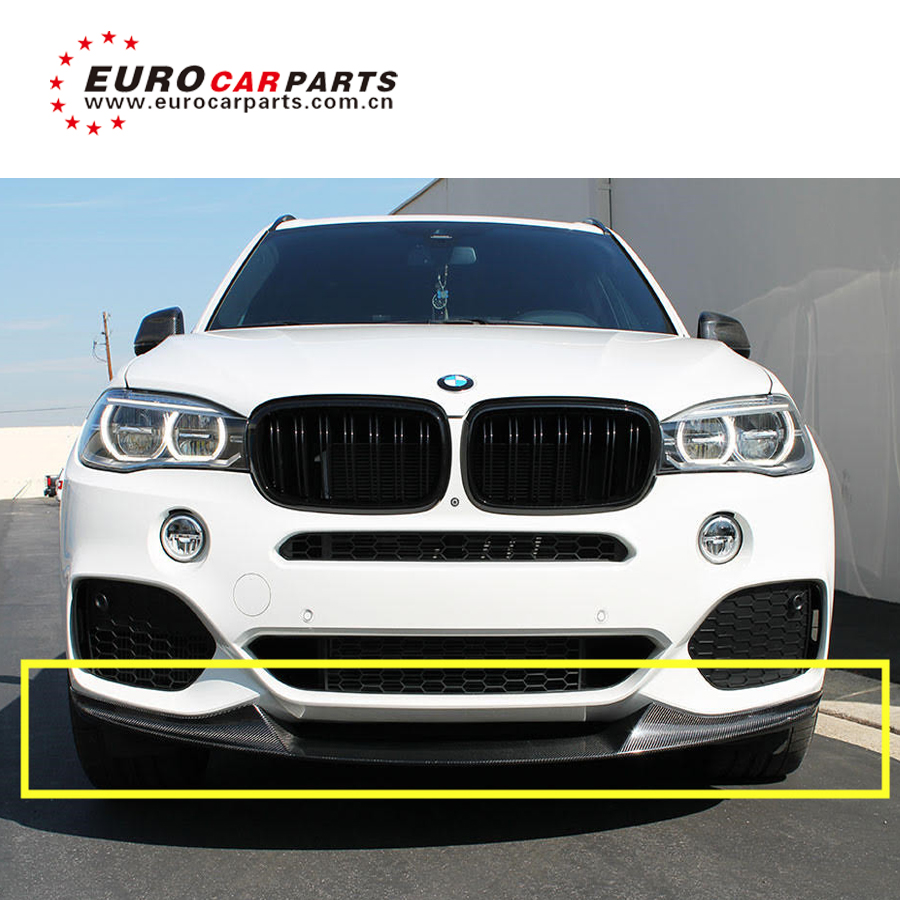 X5 F15 Msport M tech carbon finber front lip skirt spoiler rear diffuer rear spoiler skirt upgrade to MP style carbon parts