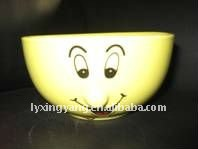 Yellow Nose Ceramic Cereal Bowl,Rice Bowl,Football Bowl