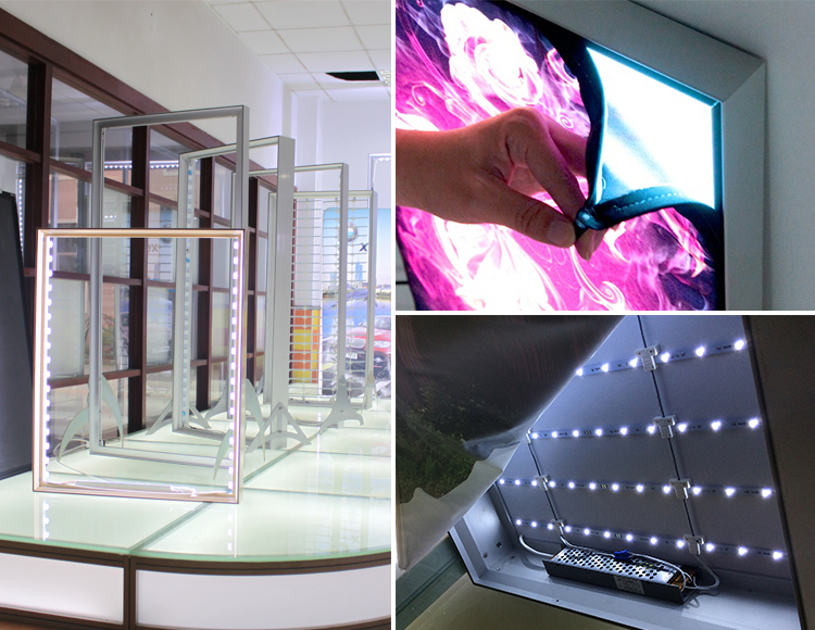 Easy To Assemble And Dismantle Led Frameless Fabric Light Box From Golden Supplier