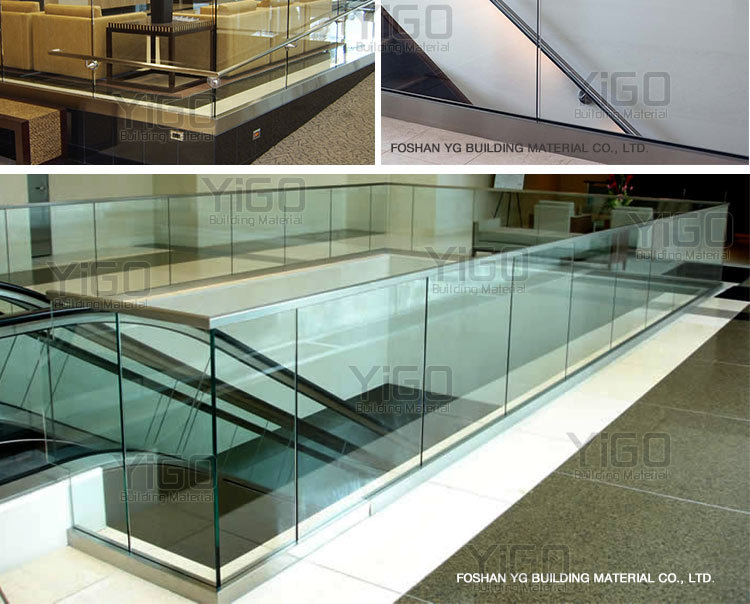 Professional outdoor glass balcony railing stainless steel for Glass balcony railings designs