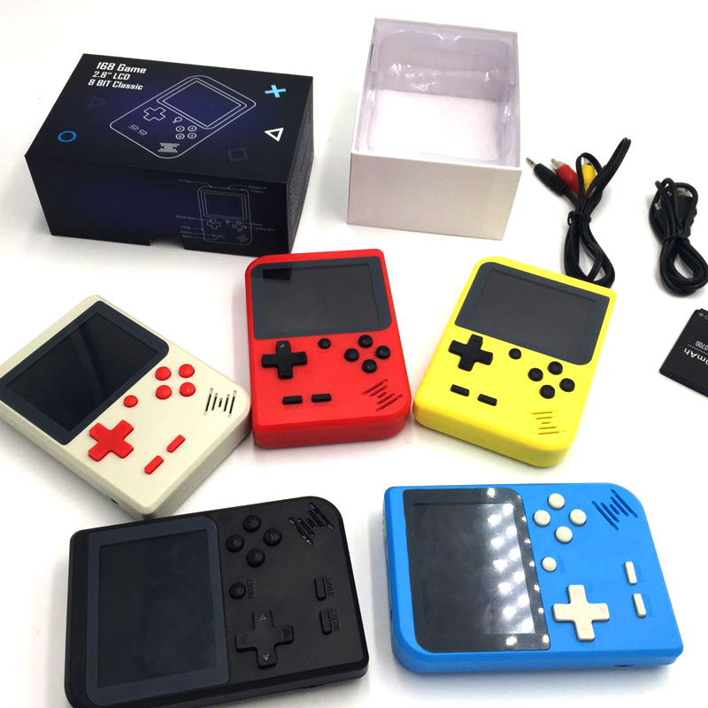 Wholesale retro handheld game console 2.8 Inch 400/168 classic video games player for Christmas gift