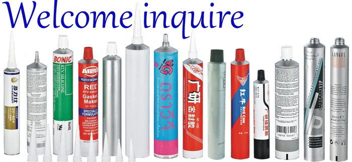Adhesive packing aluminum collapsible tubes for super glue