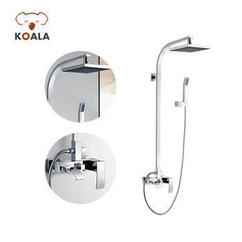 Chrome Brass Bath Thermostatic Faucet Tap Set Bathroom Italian Shower Mixer