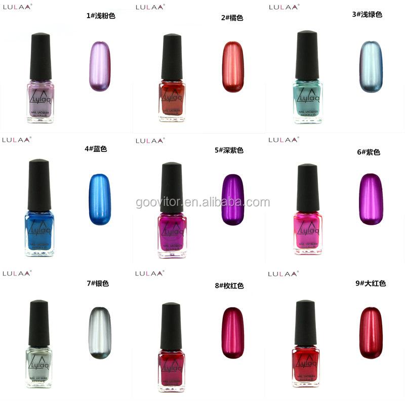 Lulaa Nail Lacquer 6ml 12 Colors Oil Mirror Effect Gel Nail Polish ...