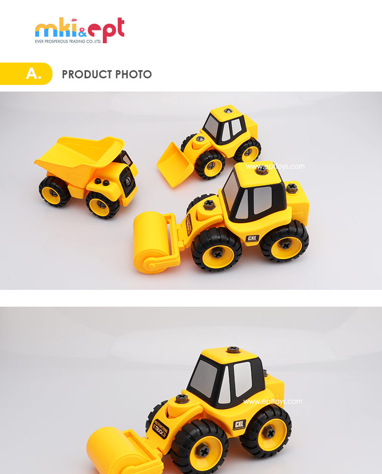 Promotional Price Good Quality Distributor Plastic Construction Truck Toy