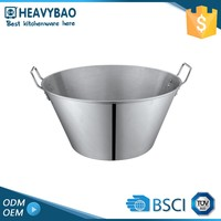 Heavybao Stainless Steel Oval Mini Metal Bucket Champagne Ice Custom Maker