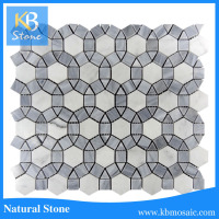 natural stone mosaic, water jet mosaic tile for bathroom, granite and marble mosaic