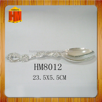 dubai supplier silver tableware western food utensils spoon/cheaper fast food tong ladle