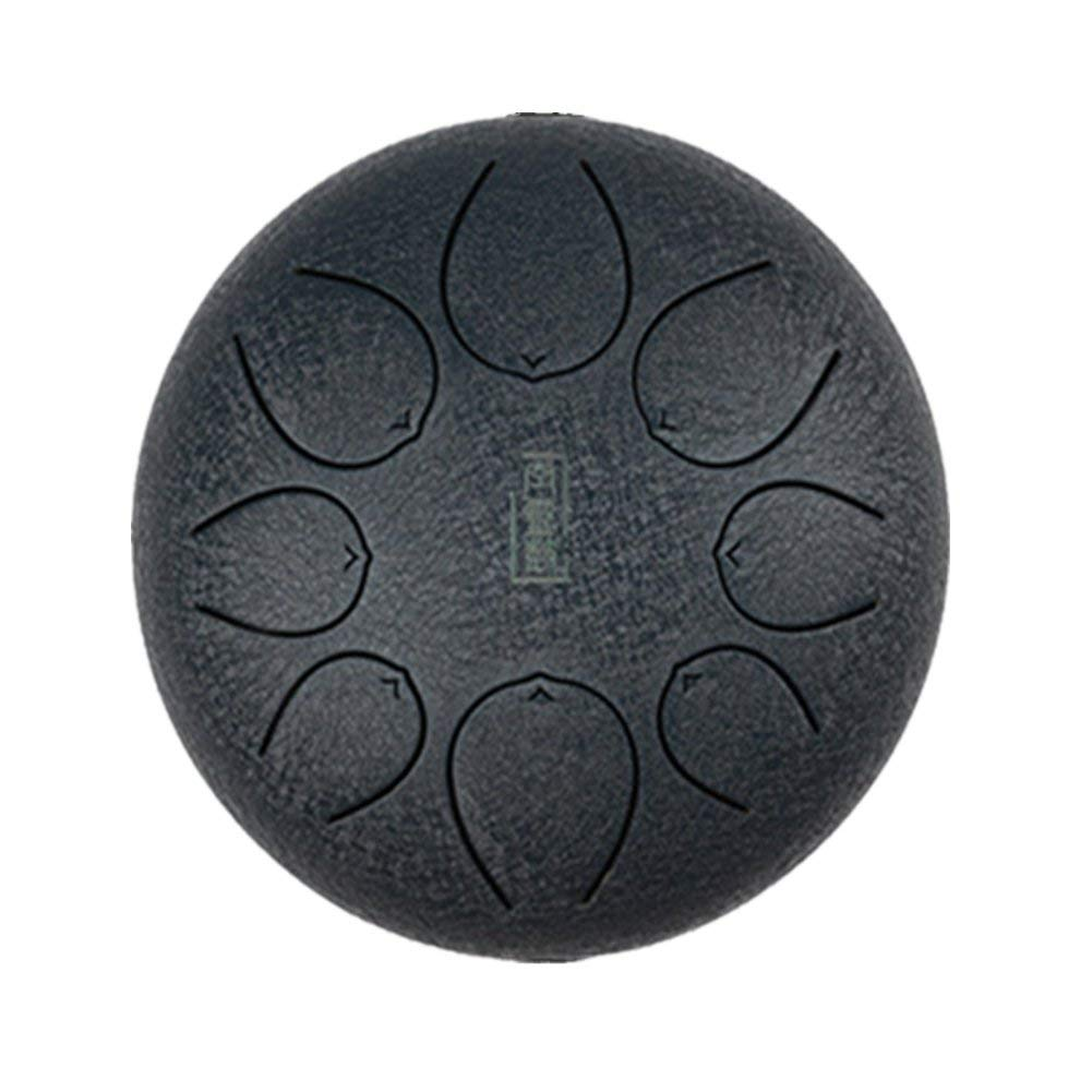 GENOVATION Steel Tongue Drum, Steel Percussion Instrument with Free Travel Bag, Black Dark Blue Brown
