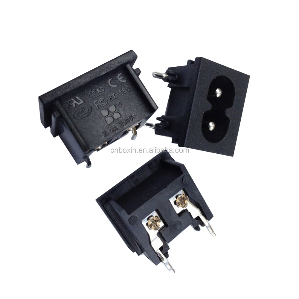 Iec C8 2 Pins Ac Power Socket Industrial Inlet Connector 25a Buy Socket2 Pin Connectorconector Product On