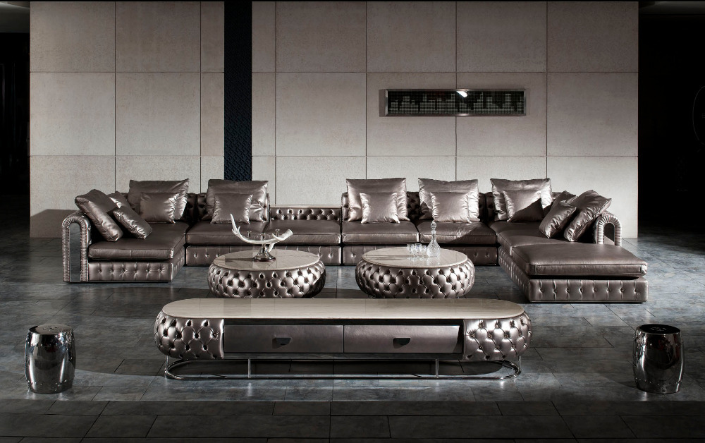 Luxury Italian Design Full Leather Sofa
