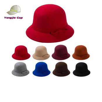 Fashion New Women Vintage Wool Round Cloche Cap Winter Lady Short Brim  Fedora Hat 7777bc2c888