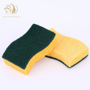 Eco-friendly custom magic kitchen sponge for cleaning pad scrubber