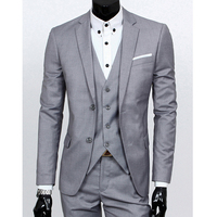 Spring big suit four seasons men's suit three-piece body repair wedding dress best man suit