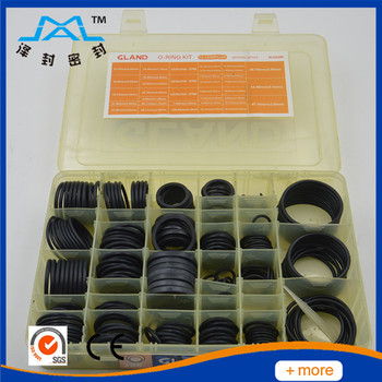 Excavator Black Rubber O-ring Kit Flat Washers/gaskets For ...
