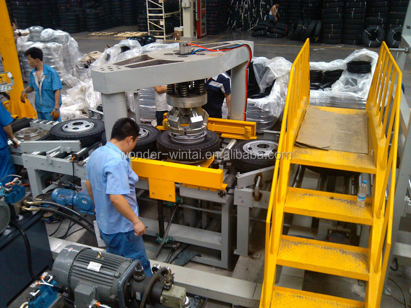 Chinese Automatic Tube/tubeless Tire Assembly Machine Tire ...
