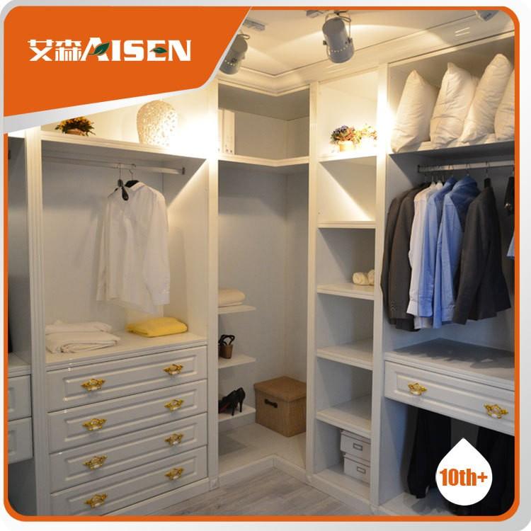 Hangzhou Aisen High Quality Modern Bedroom Open Wardrobe