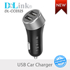 Universal Quick Charging CE ROHS Mobile Phone Micro Dual Usb Portable Car Charger For iPhone