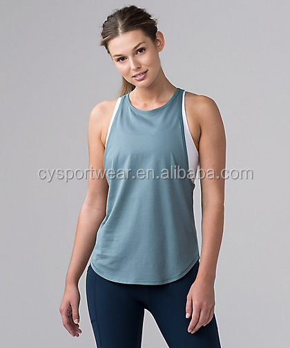 Wholesale custom design yoga women sports gym vest with top quality