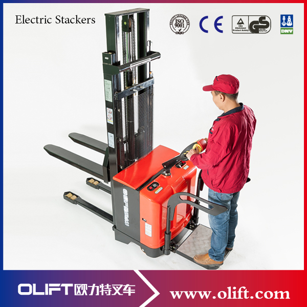 Germany hot-sale 1. 0t hand pallet stacker manual pallet stacker.