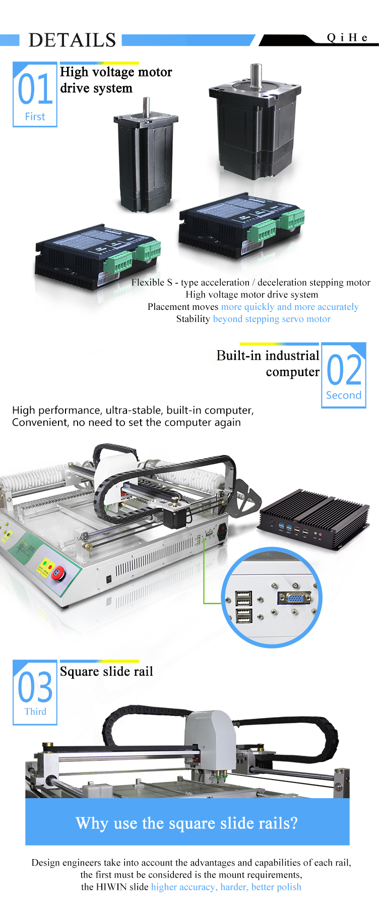 TVM802B-X pick and place machine Fast Speed LED Assembly Line PCB Soldering Machine