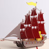 Meilun Art & Craft 3D boat shape laser Cut Greeting Card for Christmas decoration