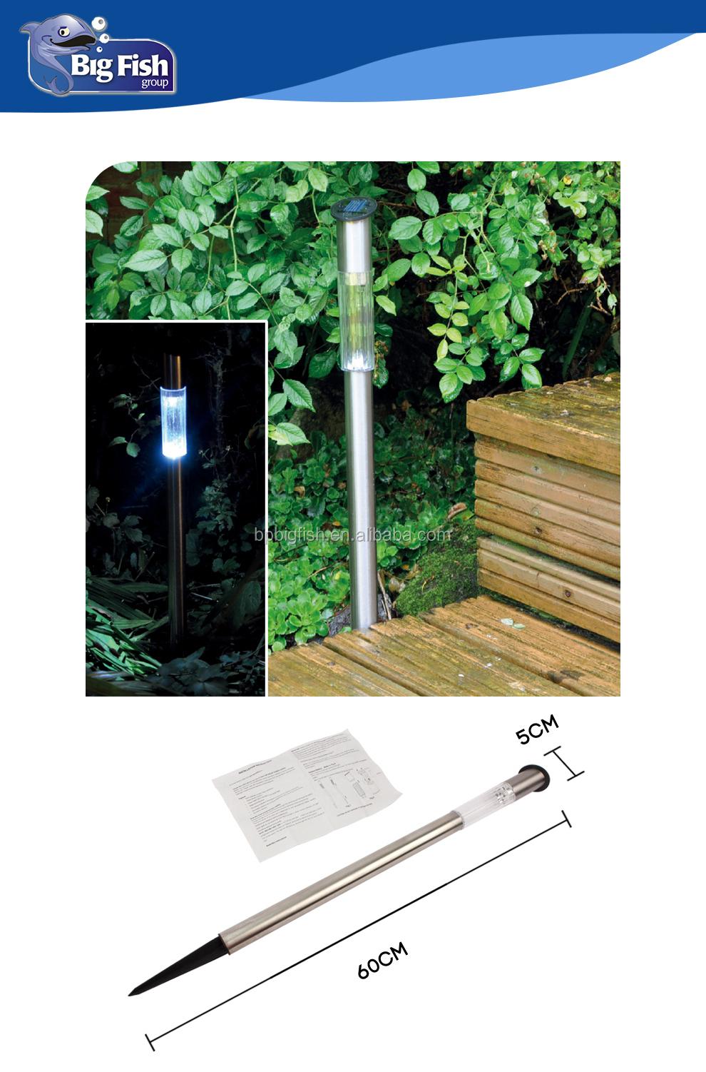 Long Post Solar Powered Post Lights/stainless Steel Single Post ...