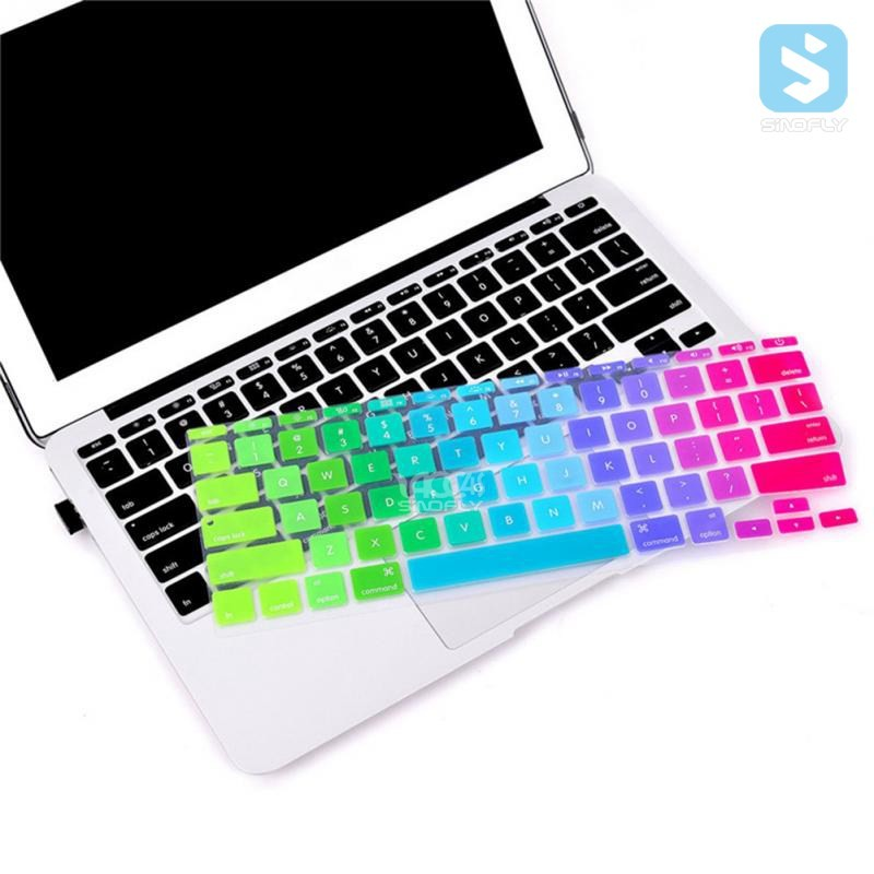 Hot sales Laptop Rainbow OEM custom Silicone Keyboard Cover for Macbook