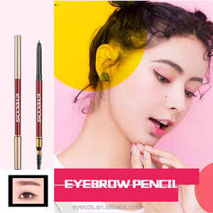 best selling your own brand smooth flat tip eyebrow pencil with brush