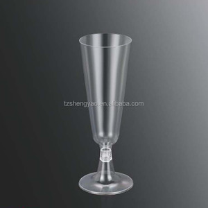 Hot New Tube Design Eco-friendly PS Cup 5oz Banquet/Party Champagne Cup