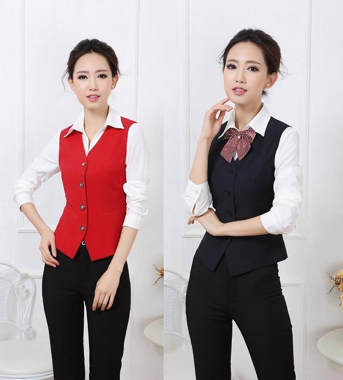 chaleco de uniformes para damas al por mayor de alta