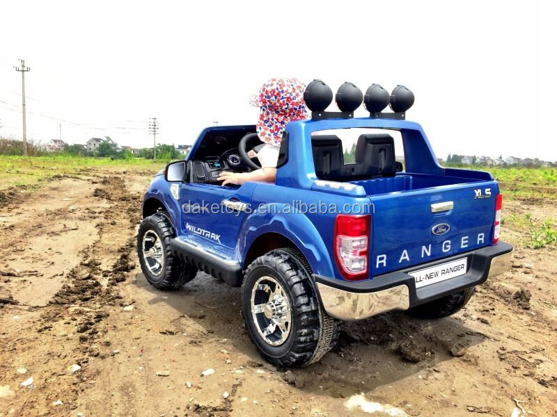 12v double seat kids ride on cars with the parent control remote licensed ford ranger