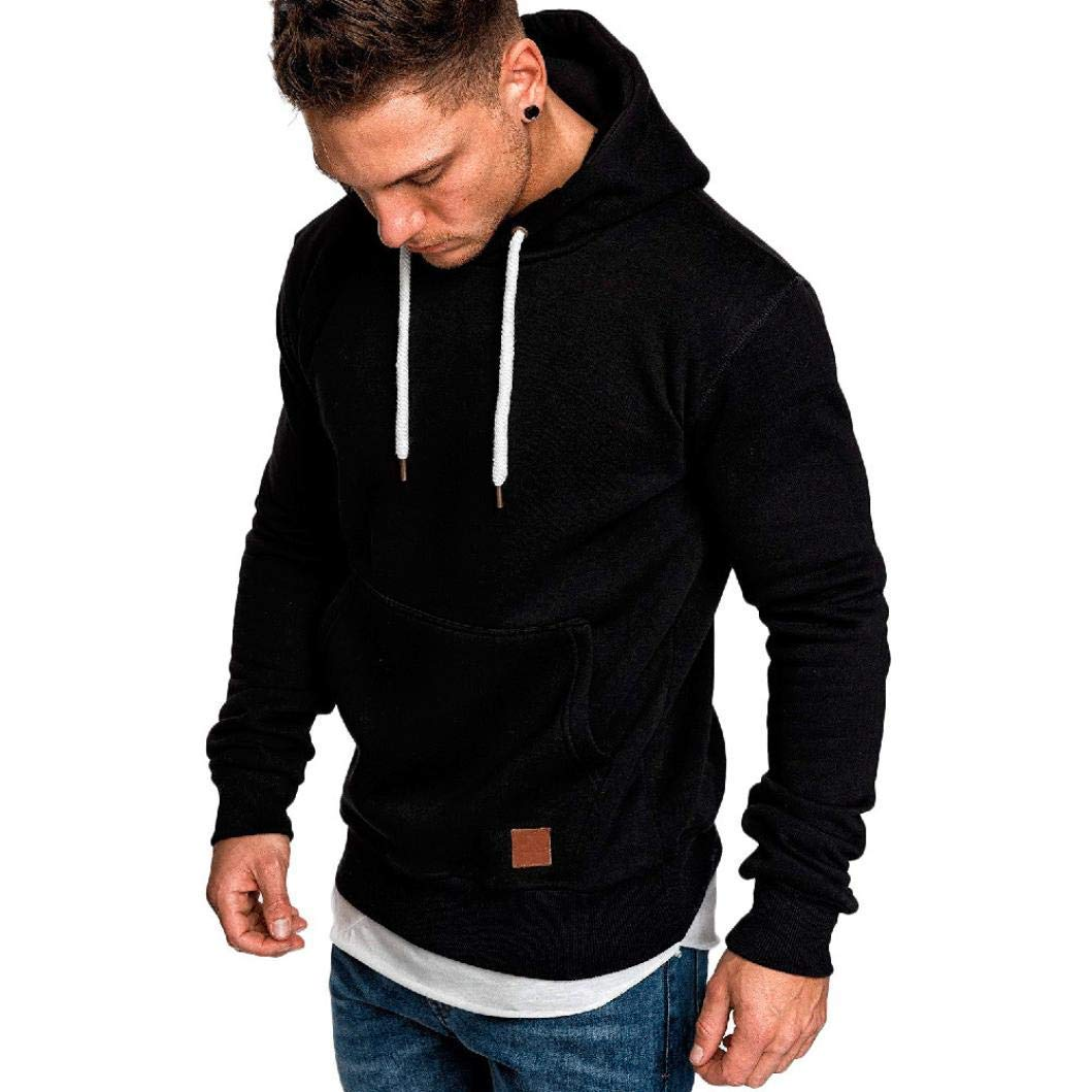 Zainafacai Hooded Tracksuits, Mens Casual Slim Fit Basic Designed Long Sleeve Drawstring Hoodies Top