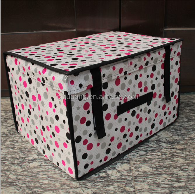 foldable non woven storage Box and Bin / collapsible storage box / Home Nonwoven Storage Box