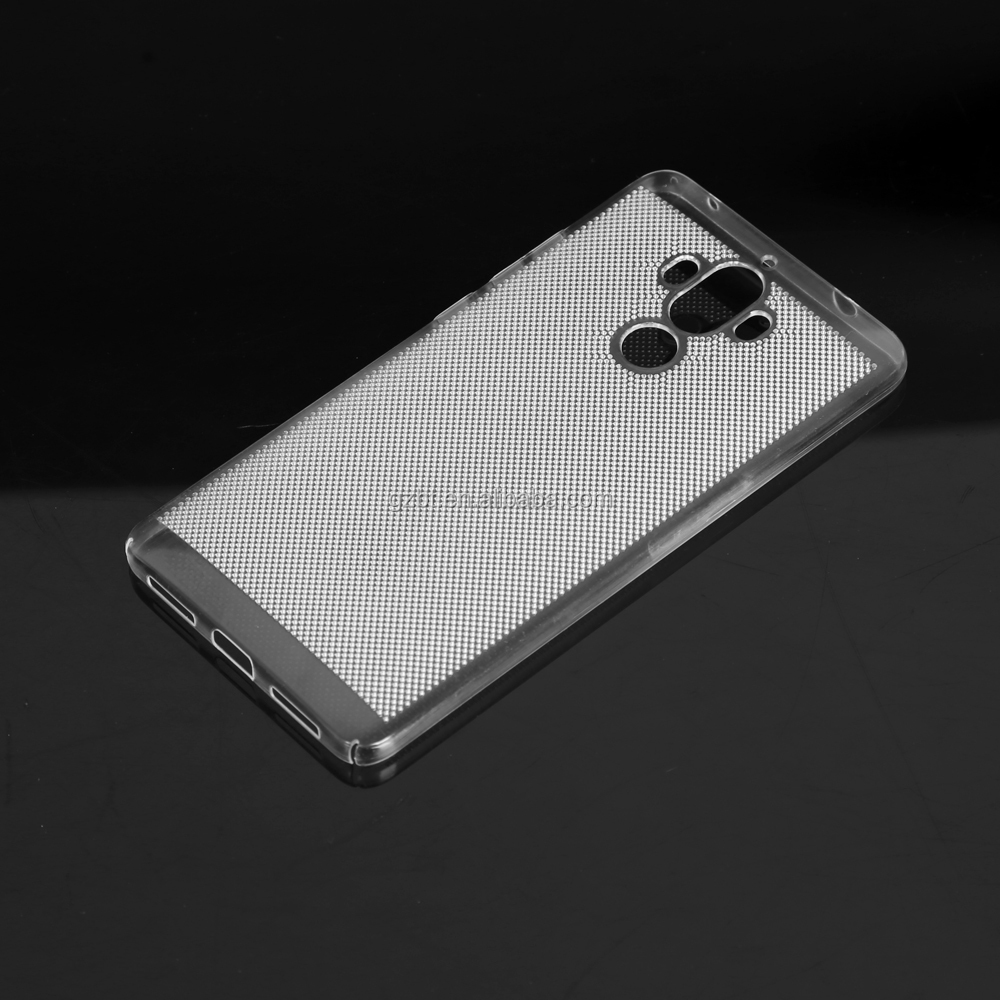 Wholesale durable simple mesh/net PC clear case phone case for HUAWEI mate 9