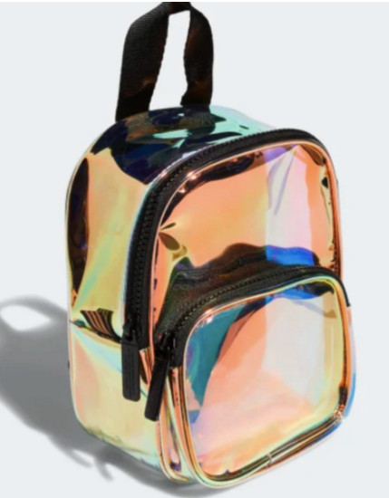 2019 Amazon hot sale holographic transparent PVC mini backpack with zipper,wholesale custom waterproof  promotional backpack