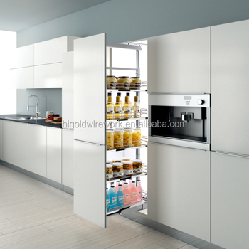 Good Quality Kitchen Larder Cabinet Soft-closing Tall Unit Basket ...