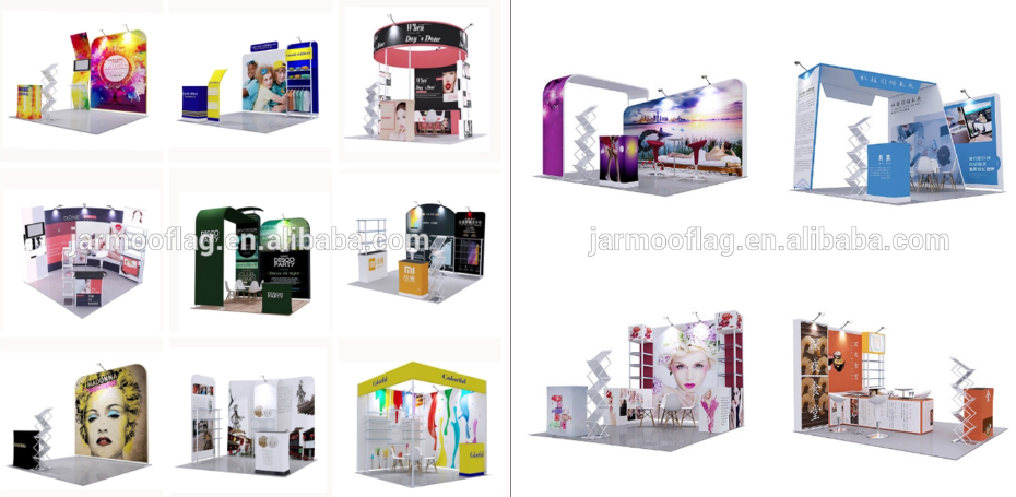 New Aluminum 3x3meters Upright Extrusion Quick Wall For Trade Show Exhibition