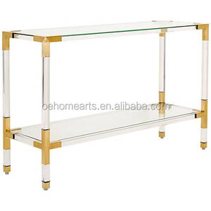 new cheap price acrylic modern console table