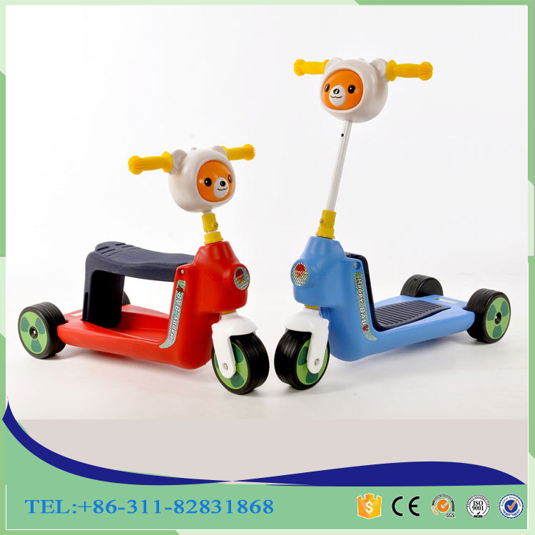 children summer winter outdoor tool 3-6 age hot sell 3 wheels fun children foot pedal animal scooter kids for export